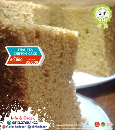 09-2017 Thai Tea Chiffon Cake
